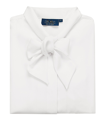 Women's White Blouse with Bow | Tuxedos for Men and Women